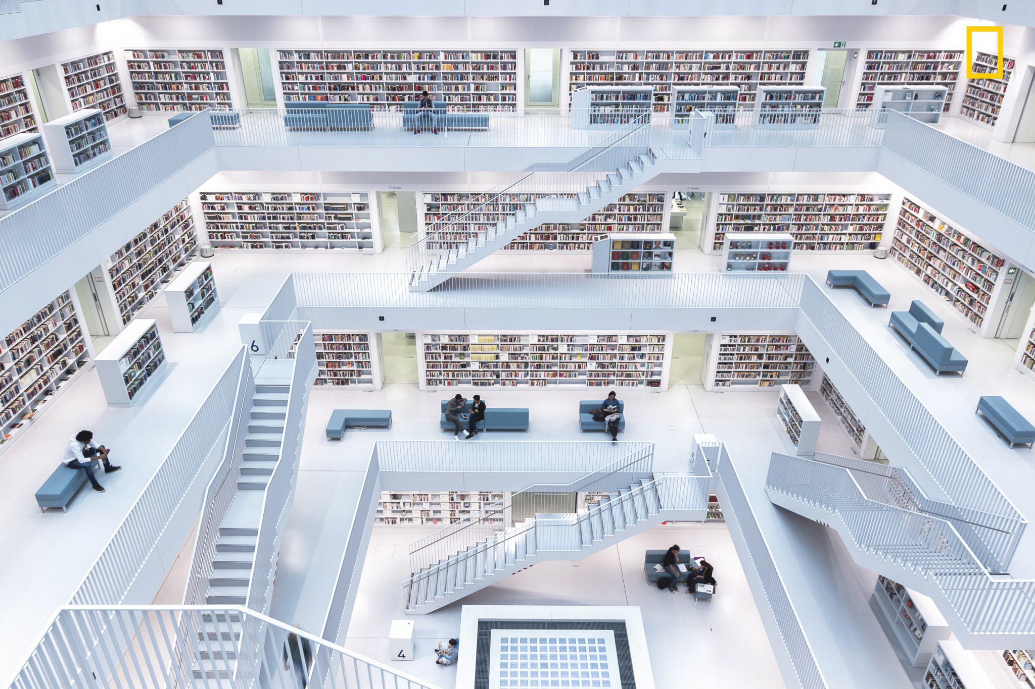 Levels of reading. Fotografía de Norbet Fritz, ganadora en la categoría Ciudad