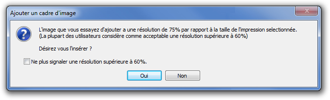 resolution des photos