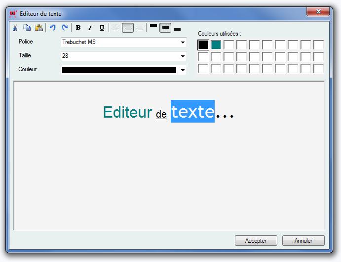 Editeur textes
